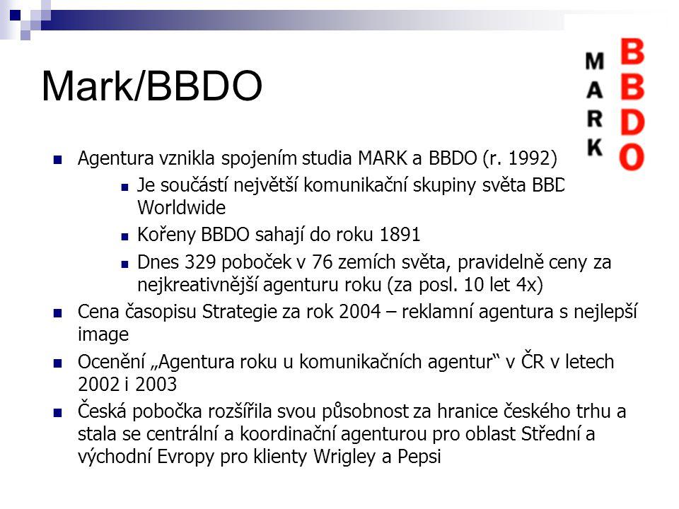 Mark/BBDO Agentura vznikla spojením studia MARK a BBDO (r.