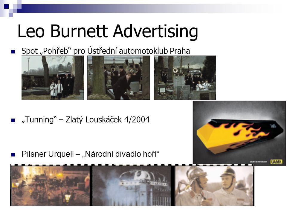 """Leo Burnett Advertising Spot """"Pohřeb pro Ústřední automotoklub Praha """"Tunning – Zlatý Louskáček 4/2004 Pilsner Urquell – """"Národní divadlo hoří"""