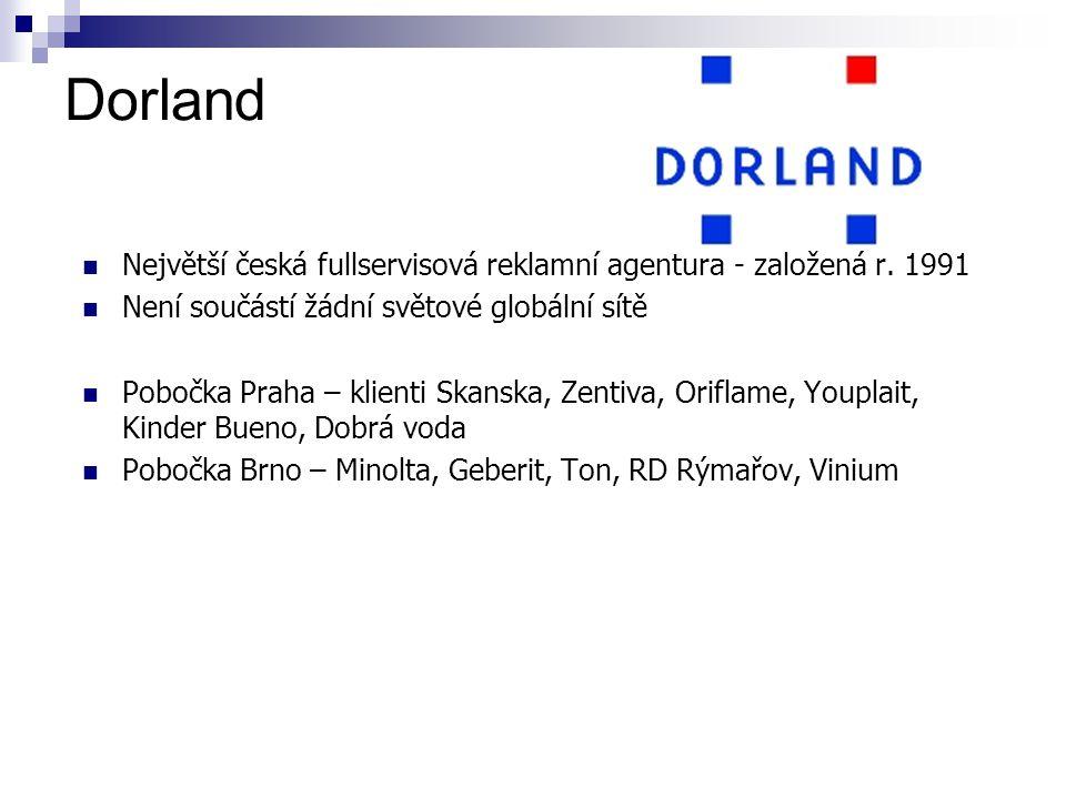 Dorland Největší česká fullservisová reklamní agentura - založená r.