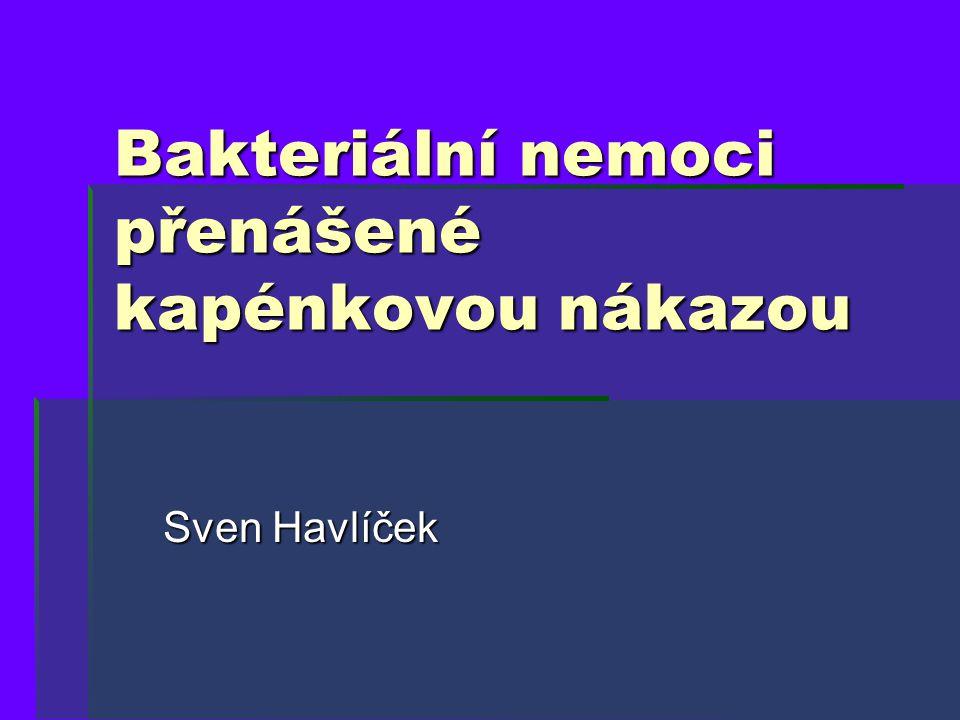 Bakteriální nemoci přenášené kapénkovou nákazou Sven Havlíček