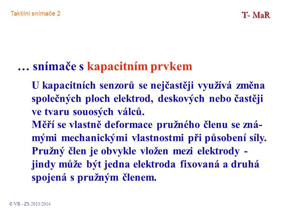 TMaR ……… Taktilní snímače 2 Ta. 2 © VR - ZS 2013/2014