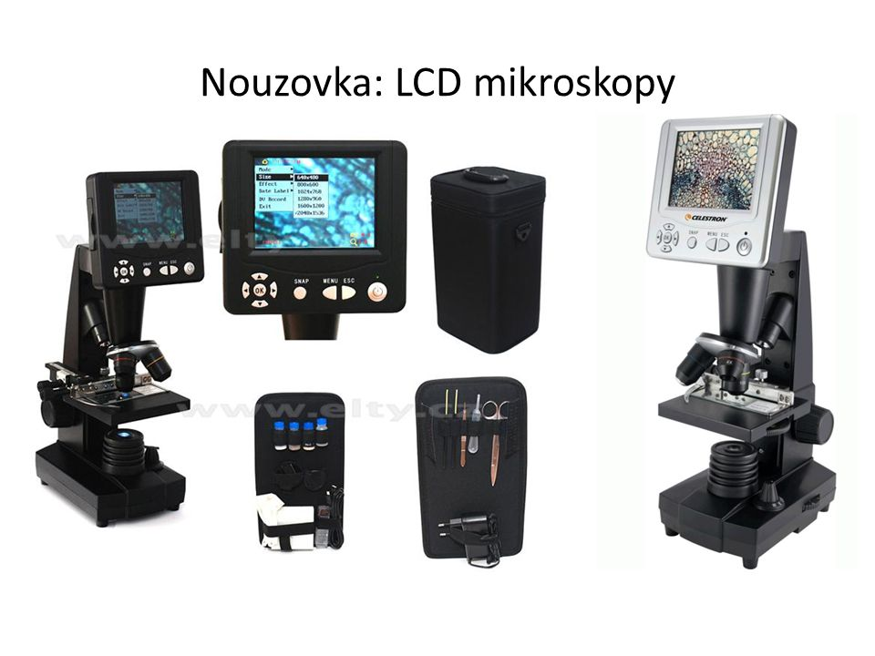 Nouzovka: LCD mikroskopy