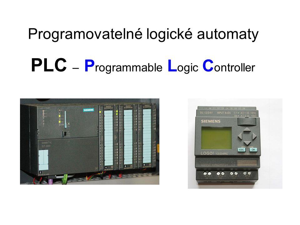 PLC – P rogrammable L ogic C ontroller Programovatelné logické automaty