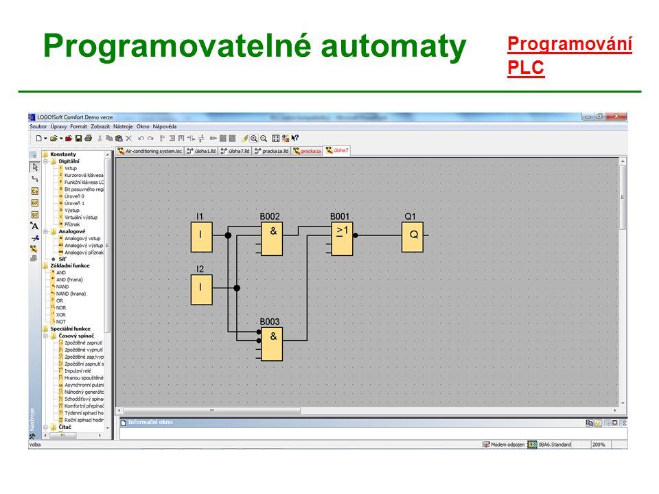 Programovatelné automaty Programování PLC