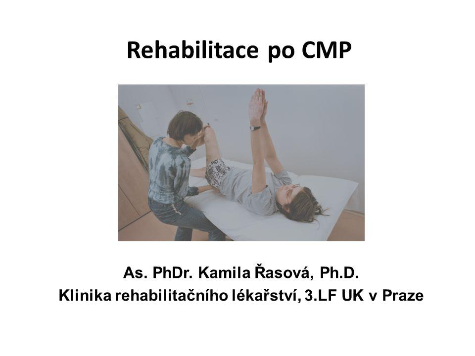 Rehabilitace po CMP As.PhDr. Kamila Řasová, Ph.D.