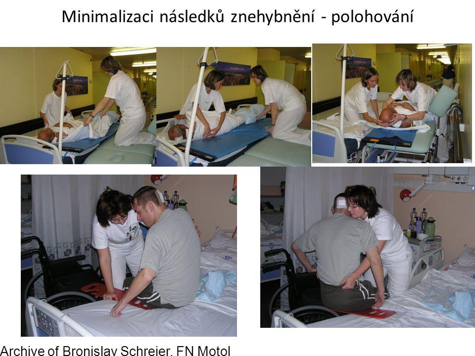 Minimalizaci následků znehybnění - polohování Archive of Bronislav Schreier, FN Motol