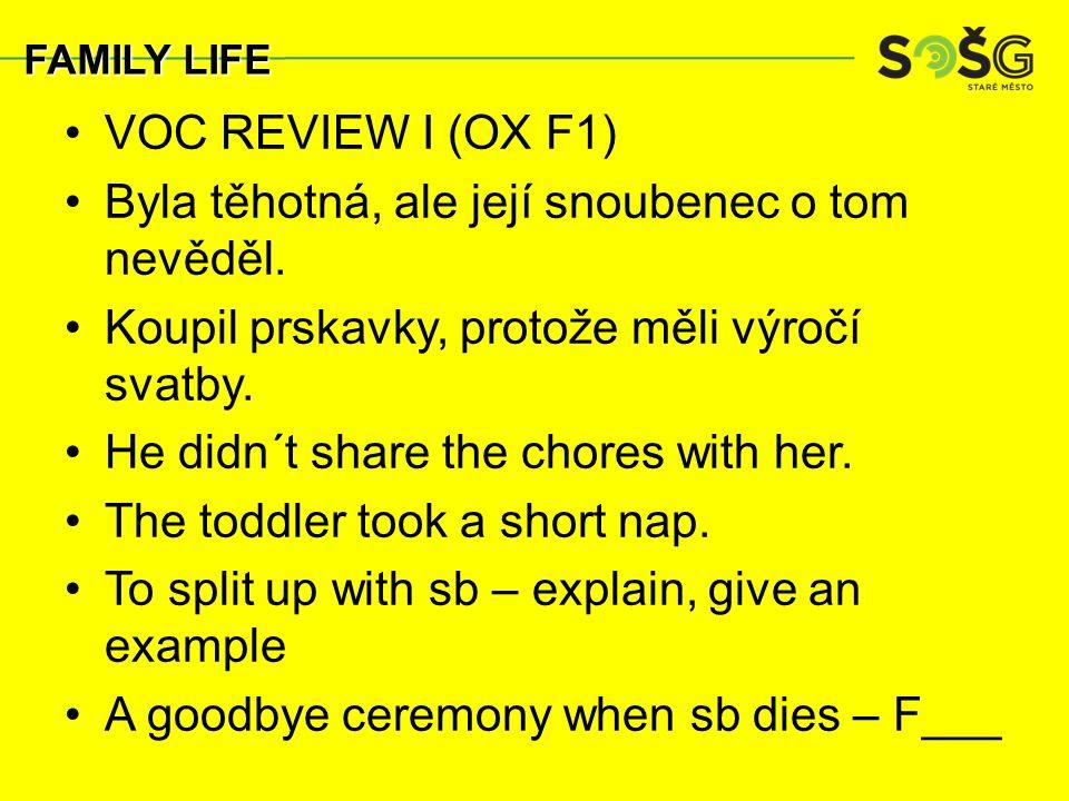 VOC REVIEW I (OX F1) Byla těhotná, ale její snoubenec o tom nevěděl.