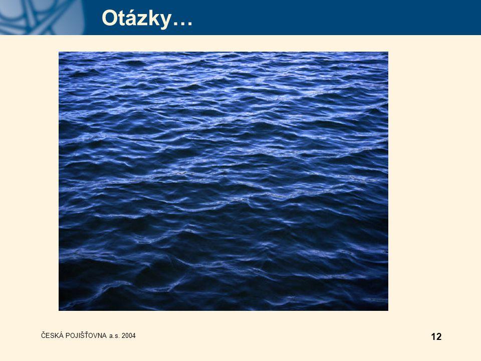 ČESKÁ POJIŠŤOVNA a.s. 2004 12 Otázky…
