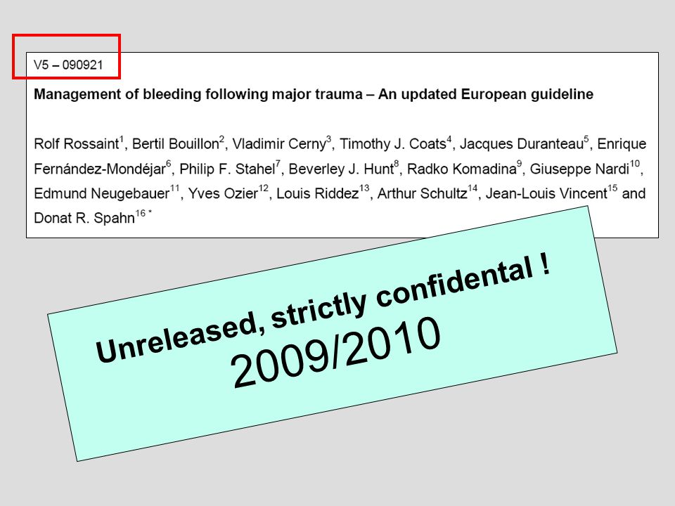 Unreleased, strictly confidental ! 2009/2010