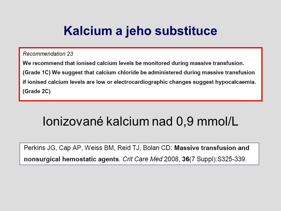 Kalcium a jeho substituce Ionizované kalcium nad 0,9 mmol/L