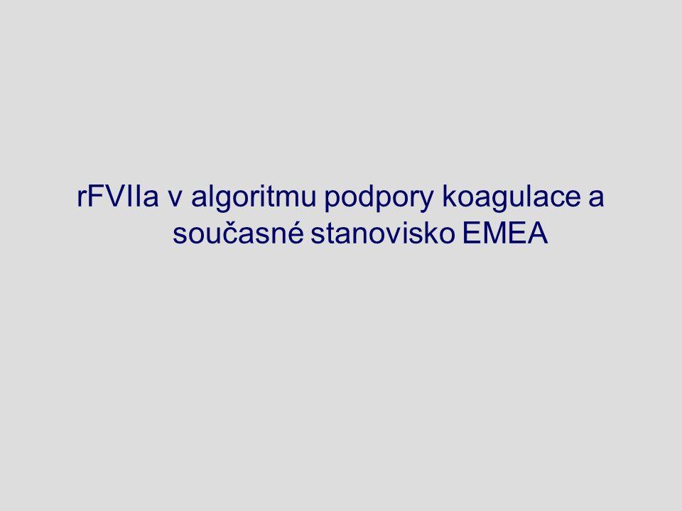 rFVIIa v algoritmu podpory koagulace a současné stanovisko EMEA