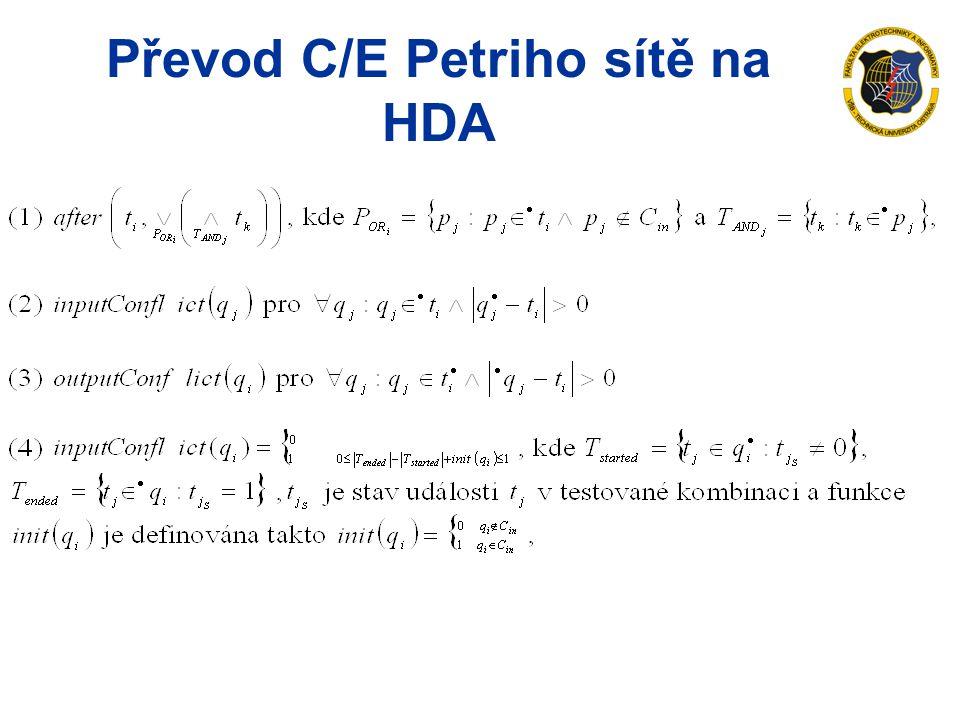 Převod C/E Petriho sítě na HDA