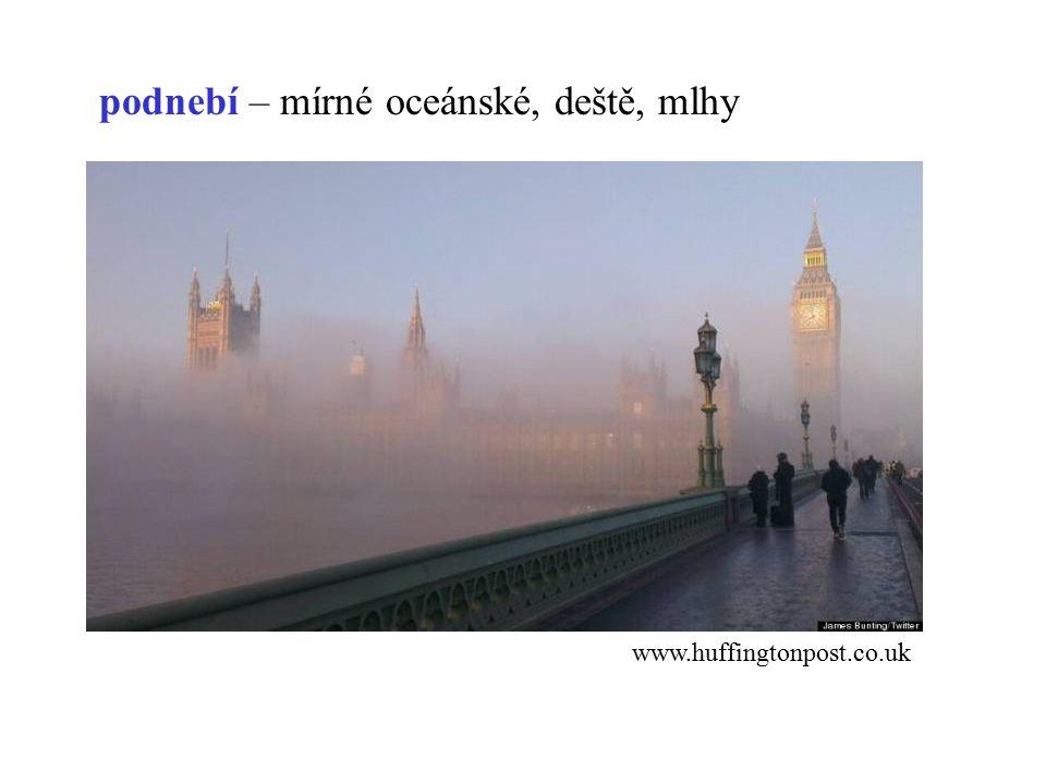 podnebí – mírné oceánské, deště, mlhy www.huffingtonpost.co.uk