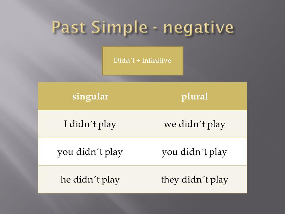 singularplural Did I play?Did we play.Did you play.