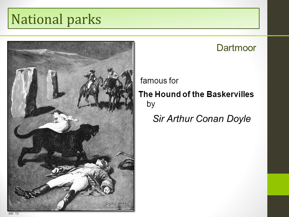National parks obr. 13 Dartmoor famous for The Hound of the Baskervilles by Sir Arthur Conan Doyle