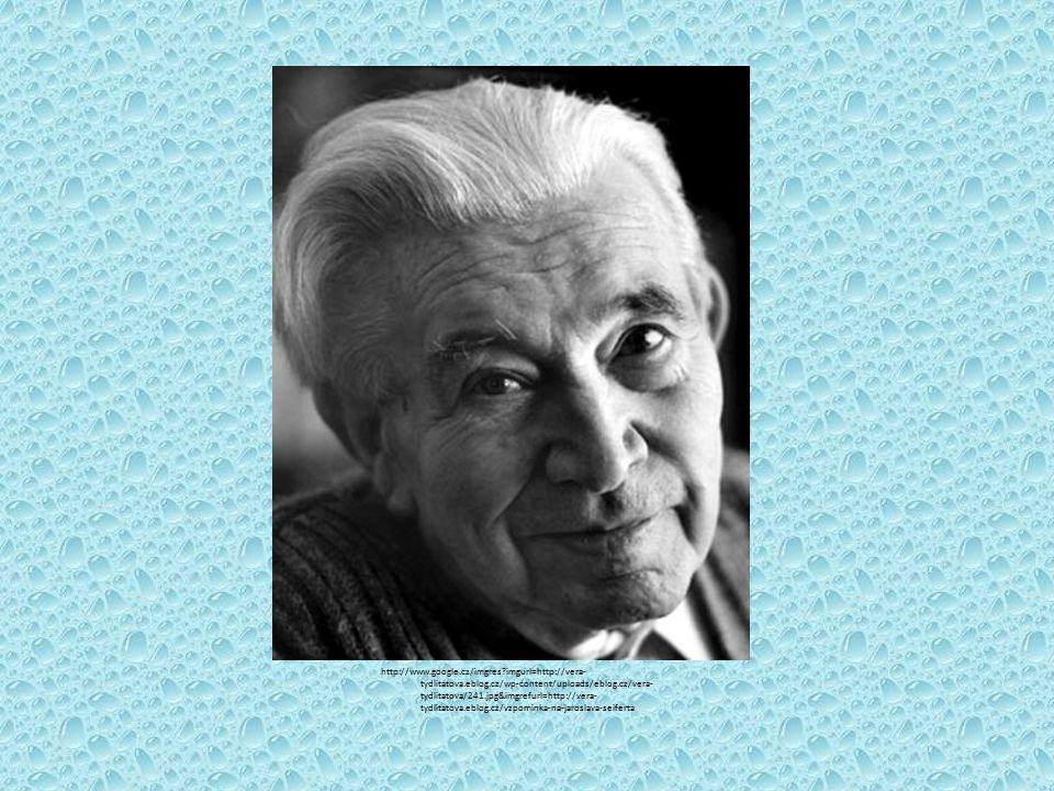 Střípky ze života - narodil se roku 1901 v Praze -zemřel roku 1986 tamtéž - v roce 1984 obdržel Nobelovu cenu za literaturu - studoval gymnázium, které před maturitou opustil, a začal se živit jako novinář - byl členem sdružení Devětsil (zejm.