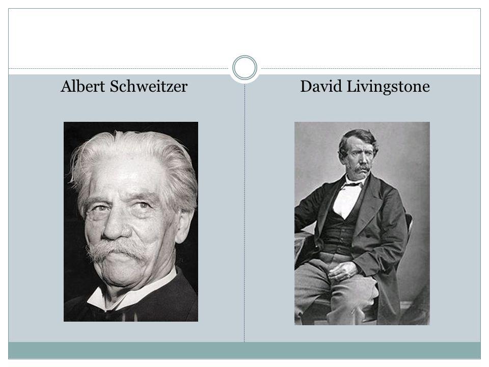 Albert SchweitzerDavid Livingstone