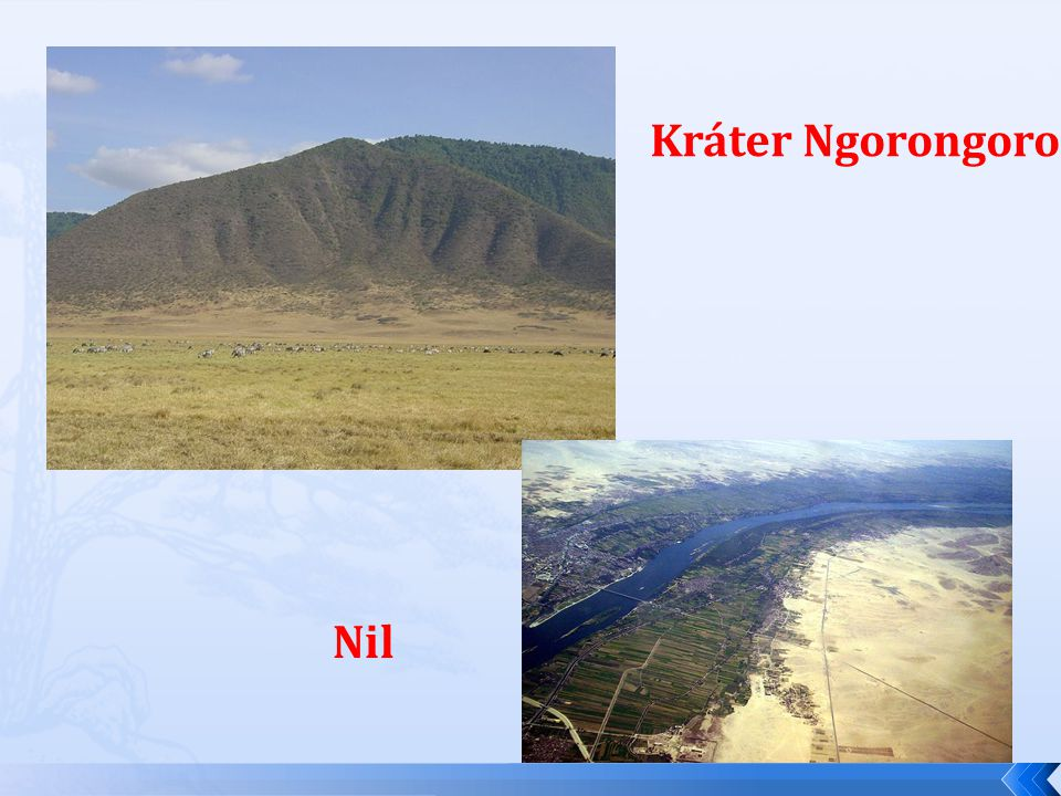 Kráter Ngorongoro Nil
