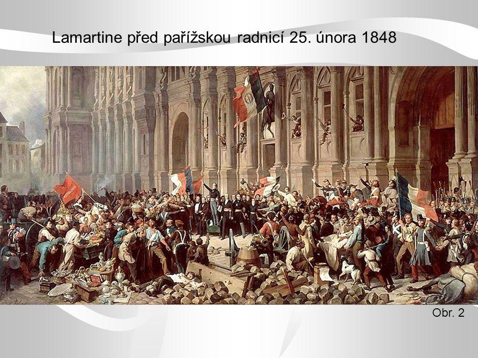 Lamartine před pařížskou radnicí 25. února 1848 Obr. 2