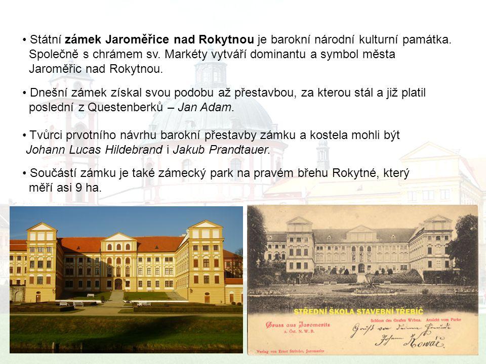 Státní zámek Jaroměřice nad Rokytnou je barokní národní kulturní památka.