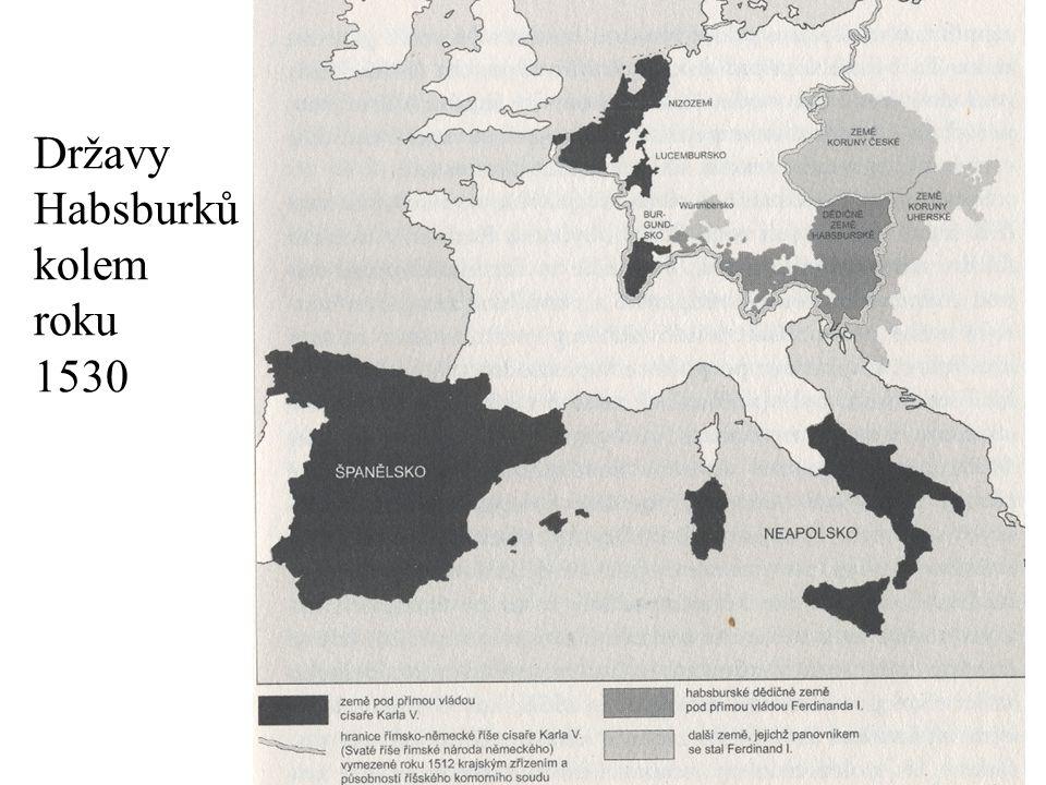 Državy Habsburků kolem roku 1530