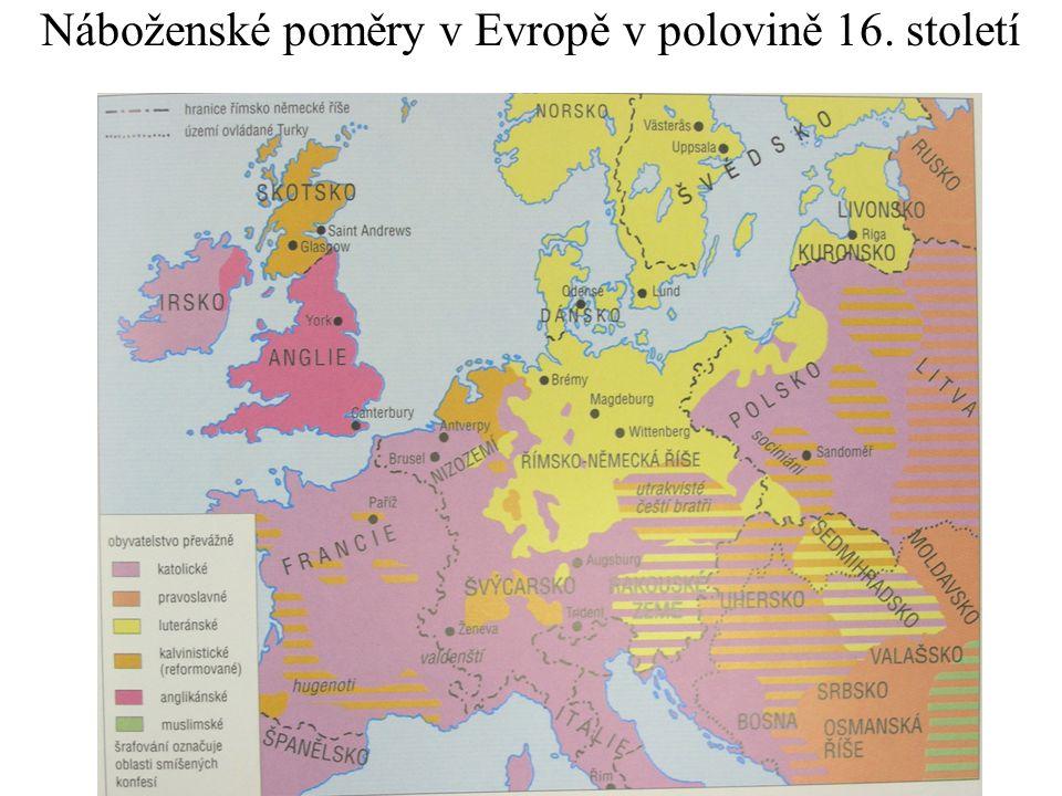 Náboženské poměry v Evropě v polovině 16. století