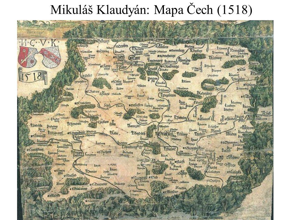 Mikuláš Klaudyán: Mapa Čech (1518)