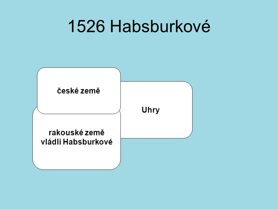 1526 Habsburkové Uhry rakouské země vládli Habsburkové české země