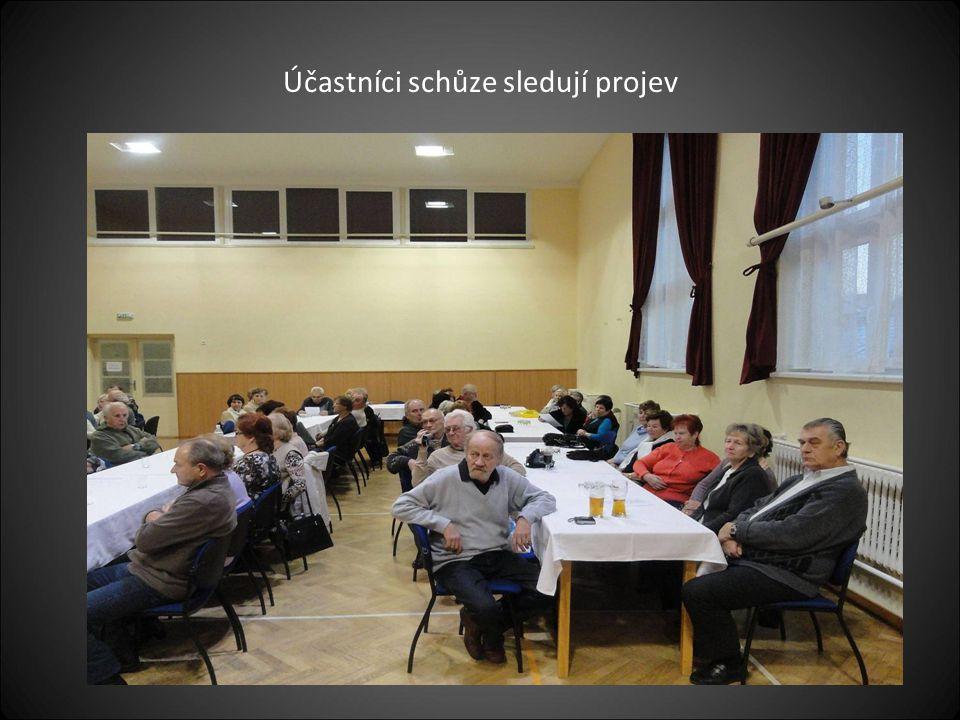 Pohled na účastníky výroční členské schůze, kterých bylo kolem 120 členů