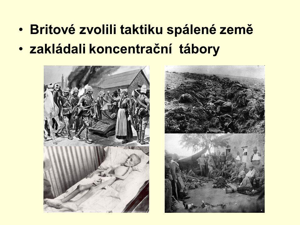 Britové zvolili taktiku spálené země zakládali koncentrační tábory