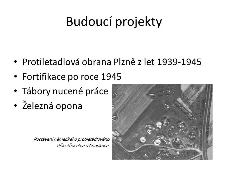 Budoucí projekty Protiletadlová obrana Plzně z let 1939-1945 Fortifikace po roce 1945 Tábory nucené práce Železná opona Postavení německého protiletad
