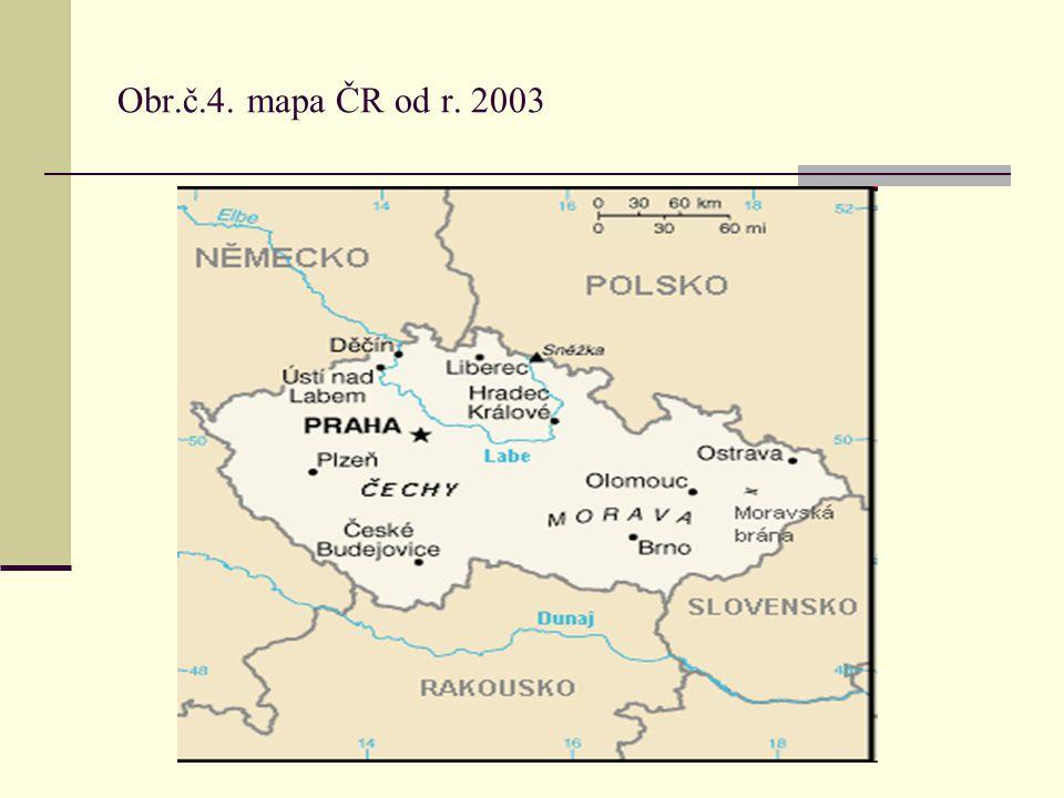 Obr.č.4. mapa ČR od r. 2003