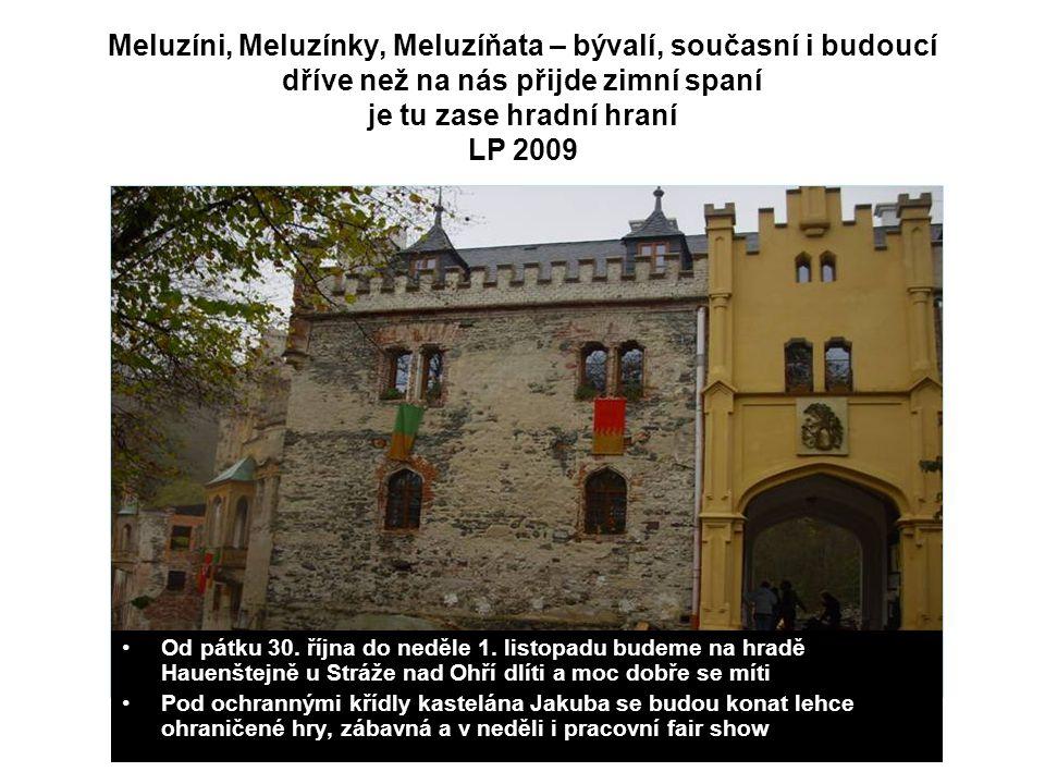 Meluzíni, Meluzínky, Meluzíňata – bývalí, současní i budoucí dříve než na nás přijde zimní spaní je tu zase hradní hraní LP 2009 Od pátku 30.