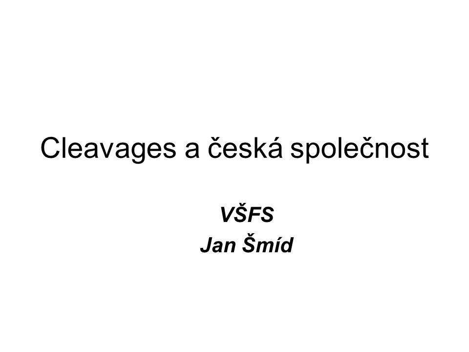 Cleavages a česká společnost VŠFS Jan Šmíd