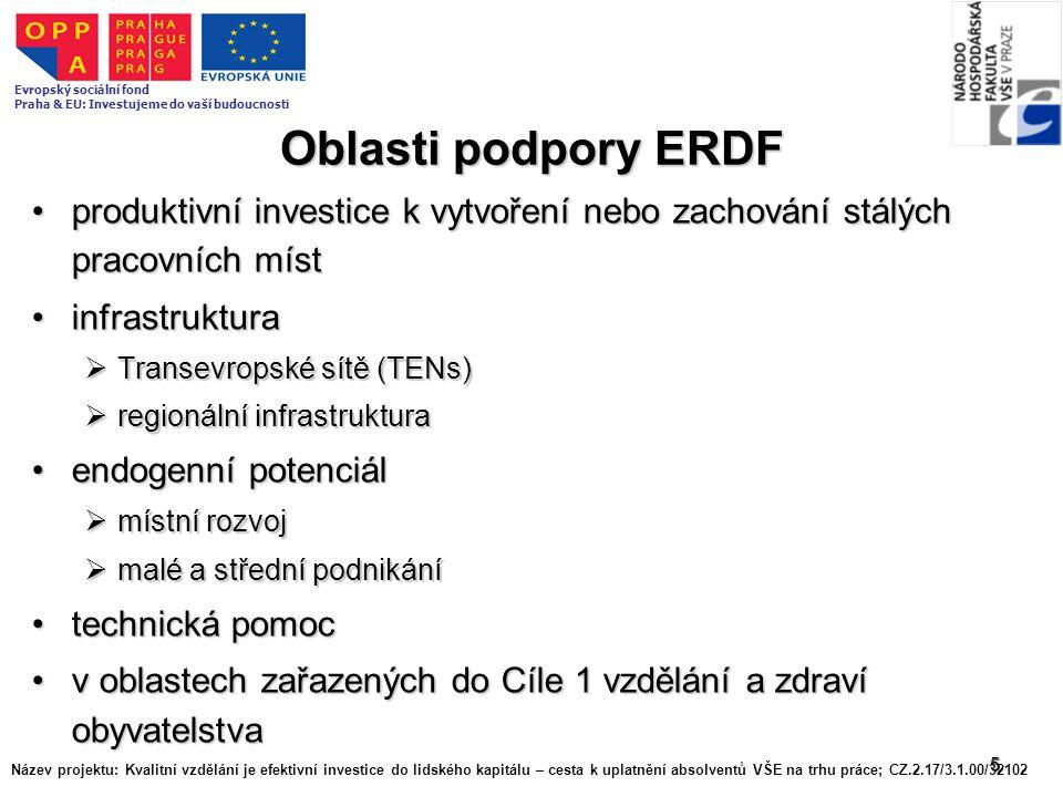 5 Oblasti podpory ERDF produktivní investice k vytvoření nebo zachování stálých pracovních místproduktivní investice k vytvoření nebo zachování stálýc