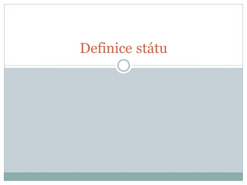 Definice státu