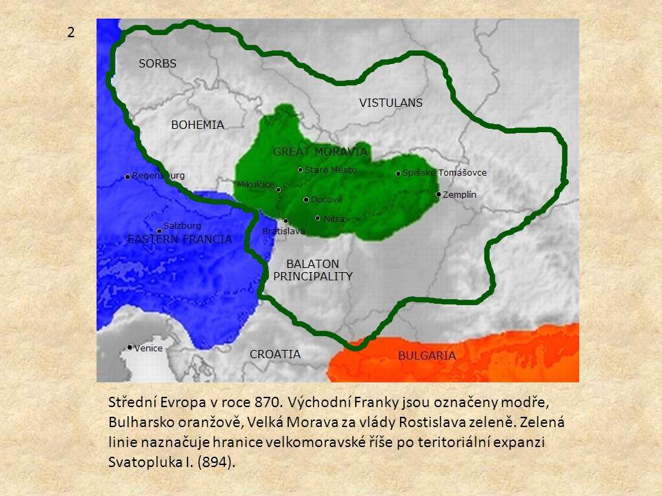 2 Střední Evropa v roce 870.