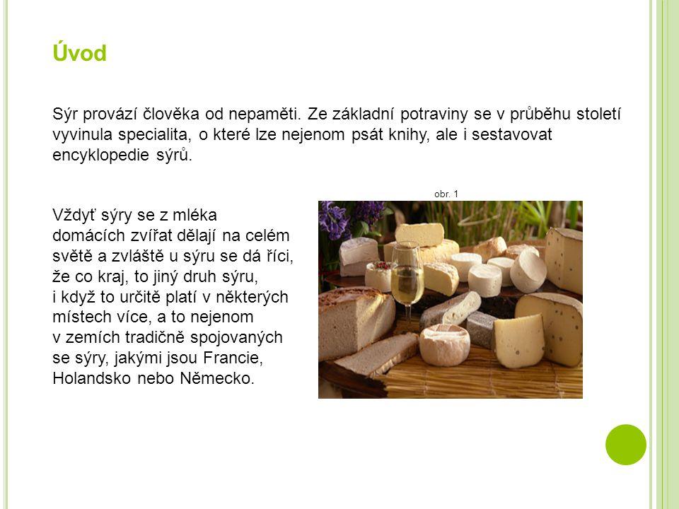 Úvod Sýr provází člověka od nepaměti. Ze základní potraviny se v průběhu století vyvinula specialita, o které lze nejenom psát knihy, ale i sestavovat
