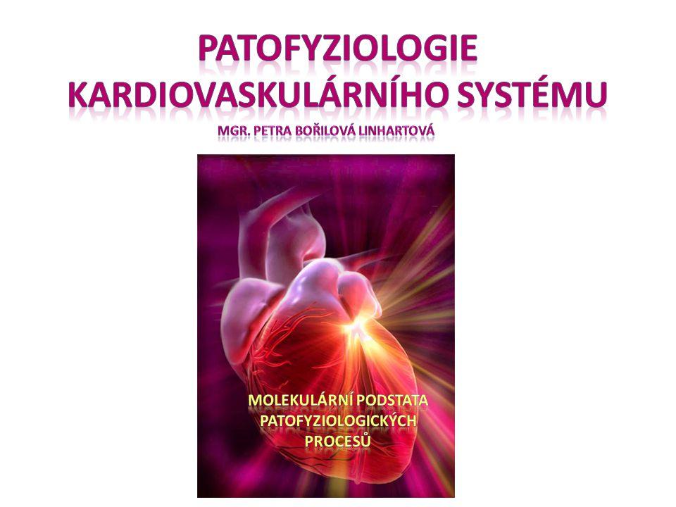 Infarkt myokardu Etiologie příčinou ischémie je náhlý uzávěr koronární tepny nebo její extrémní progredující zúžení: –ruptura aterosklerotického plátu s nasedající intrakoronární trombózou (aterosklerotický plát vzniká dlouhodobým ukládáním tukových látek do stěny cévy, podkladem je tedy ateroskleróza) –embolizace koronární tepny - vmetek krevní sraženiny, která vznikla v jiném místě cévního řečiště –céva může být uzavřena také vzduchovou bublinkou (příhody při potápění) –spazmus, arteritida následek uzávěru koronární tepny může být zástava oběhu (náhlá srdeční smrt) v akutní fázi může nastat také kritické oslabení srdeční činnosti s kardiogenním šokem pokud není krevní proud v postižené tepně obnoven do 2 hodin dochází k nevratnému poškození postižené části srdce obnovení průtoku krve i po 2 hodinách má však dobré výsledky
