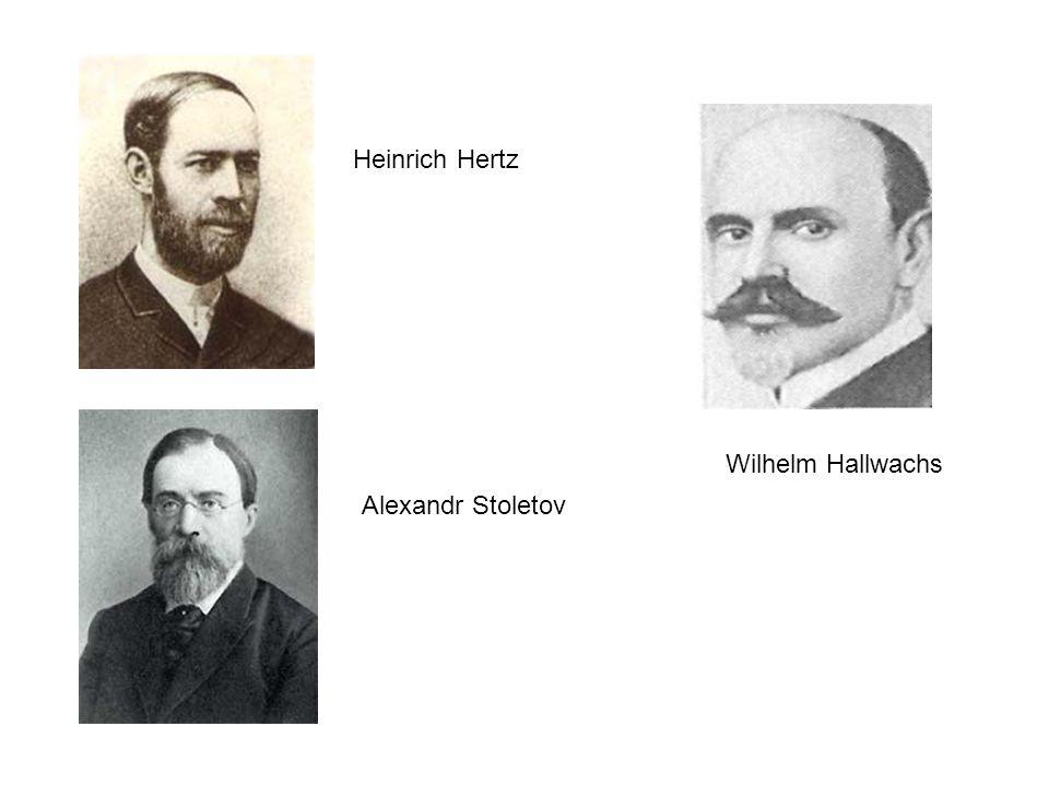 Heinrich Hertz Alexandr Stoletov Wilhelm Hallwachs
