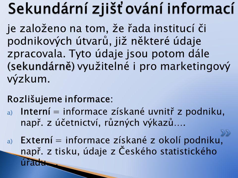 CVIČENÍ Urči o jakou metodu zjišťování informací se jedná: 1.