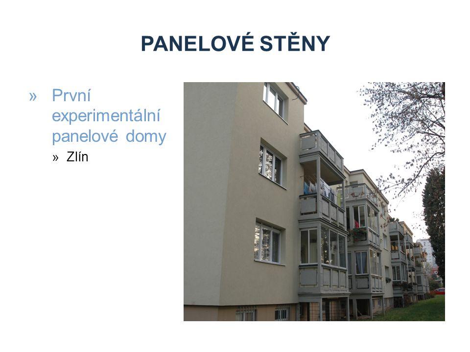 PANELOVÉ STĚNY »Panelový systém G40 »Zlín