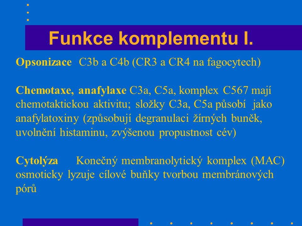 Funkce komplementu I.