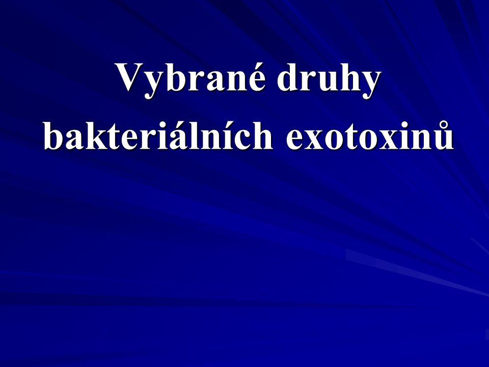 Vybrané druhy bakteriálních exotoxinů