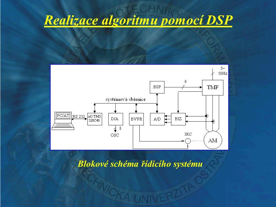 Experimentální výsledky Průběhy skutečných a estimovaných otáček AM, momentotvorné a tokotvorné složky vektoru statorového proudu AM při rozběhu na 300 min -1 a následné reverzaci na –300 min -1 bez zatížení (měřítko otáček je 1 V  60 min -1, měřítko proudu je 1 V  1 A)