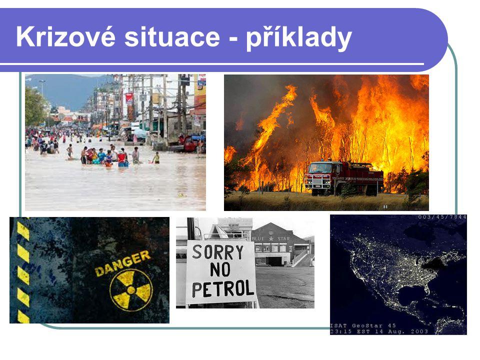 Krizové situace - příklady
