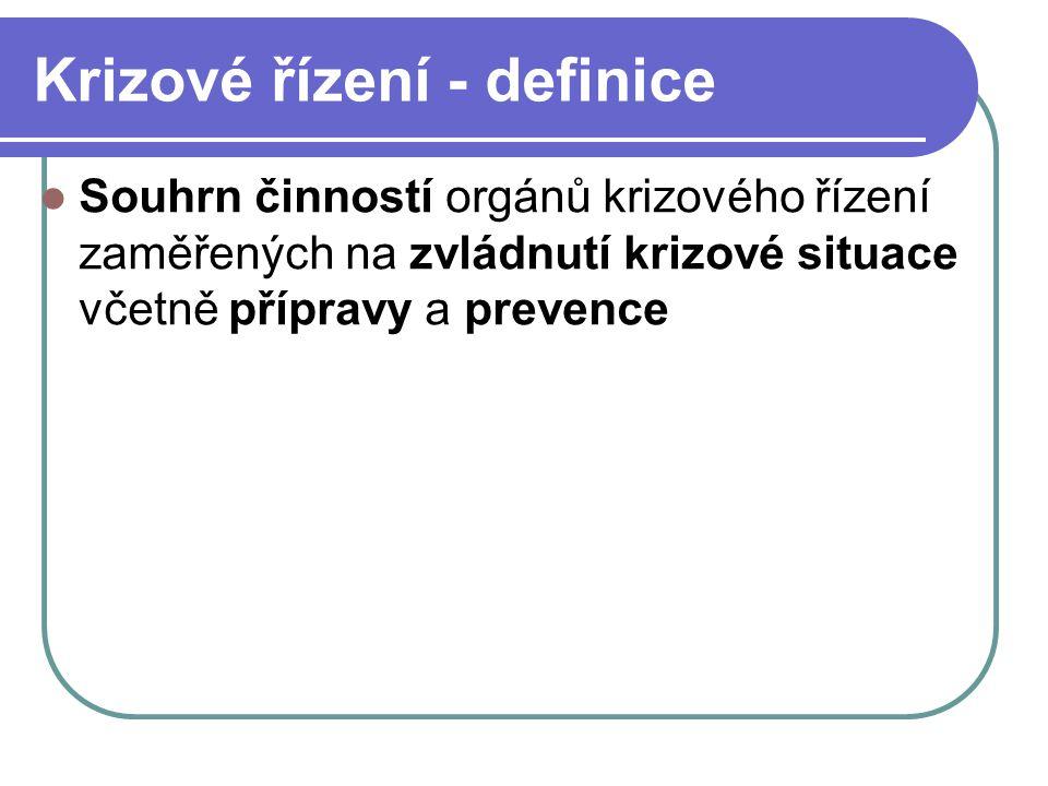 Financování krizového řízení v ČR (240/2000) Finanční zabezpečení krizových opatření na běžný rozpočtový rok se provádí podle zvláštního právního předpisu (rozpočtová pravidla).