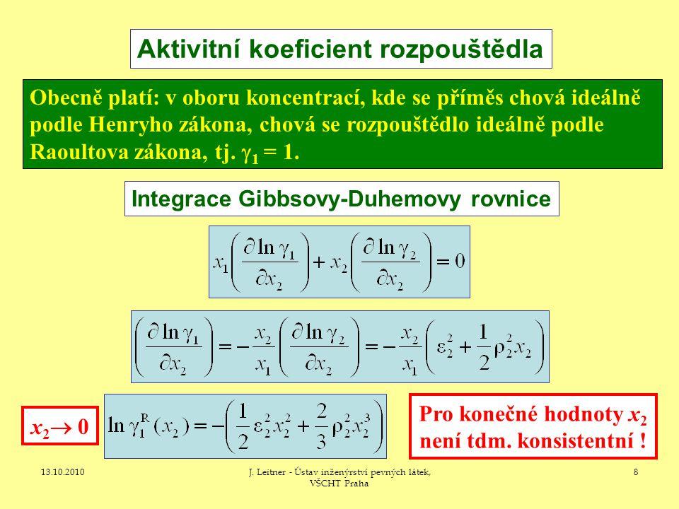 13.10.2010J. Leitner - Ústav inženýrství pevných látek, VŠCHT Praha 29