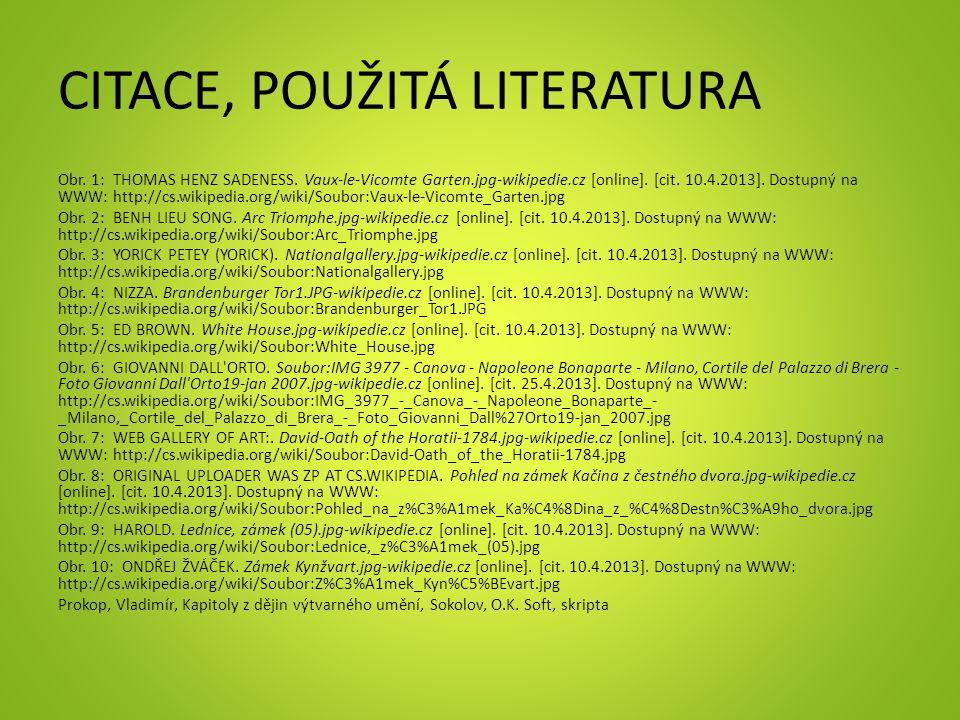 CITACE, POUŽITÁ LITERATURA Obr. 1: THOMAS HENZ SADENESS.