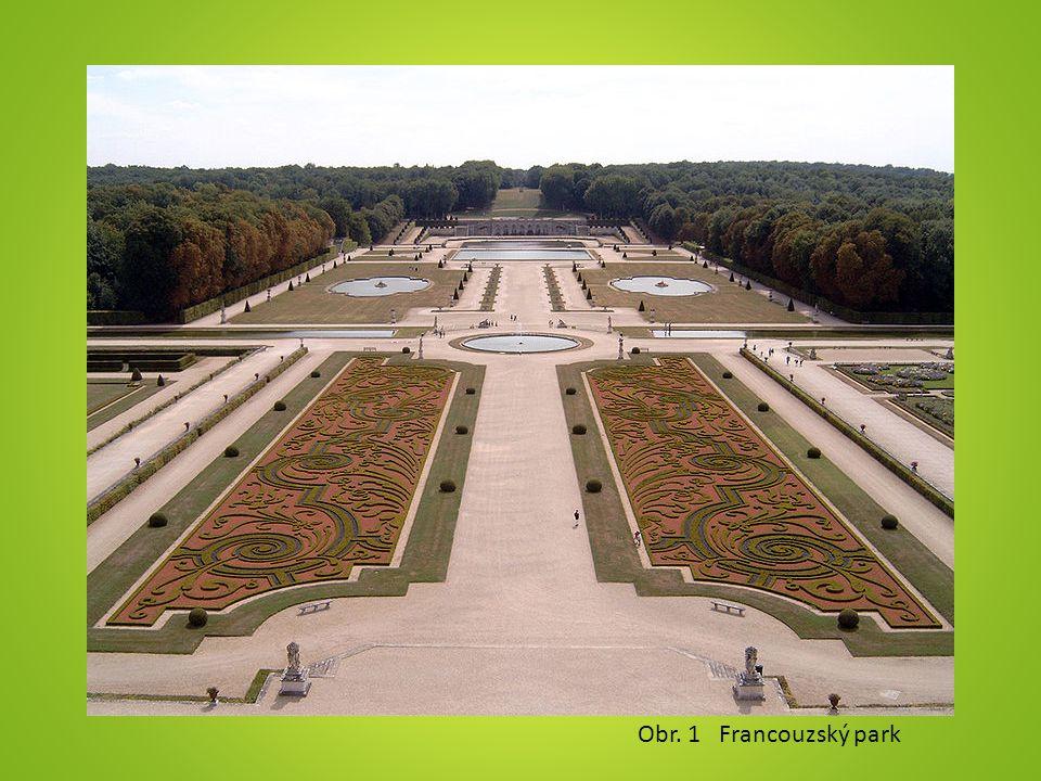 Obr. 1 Francouzský park